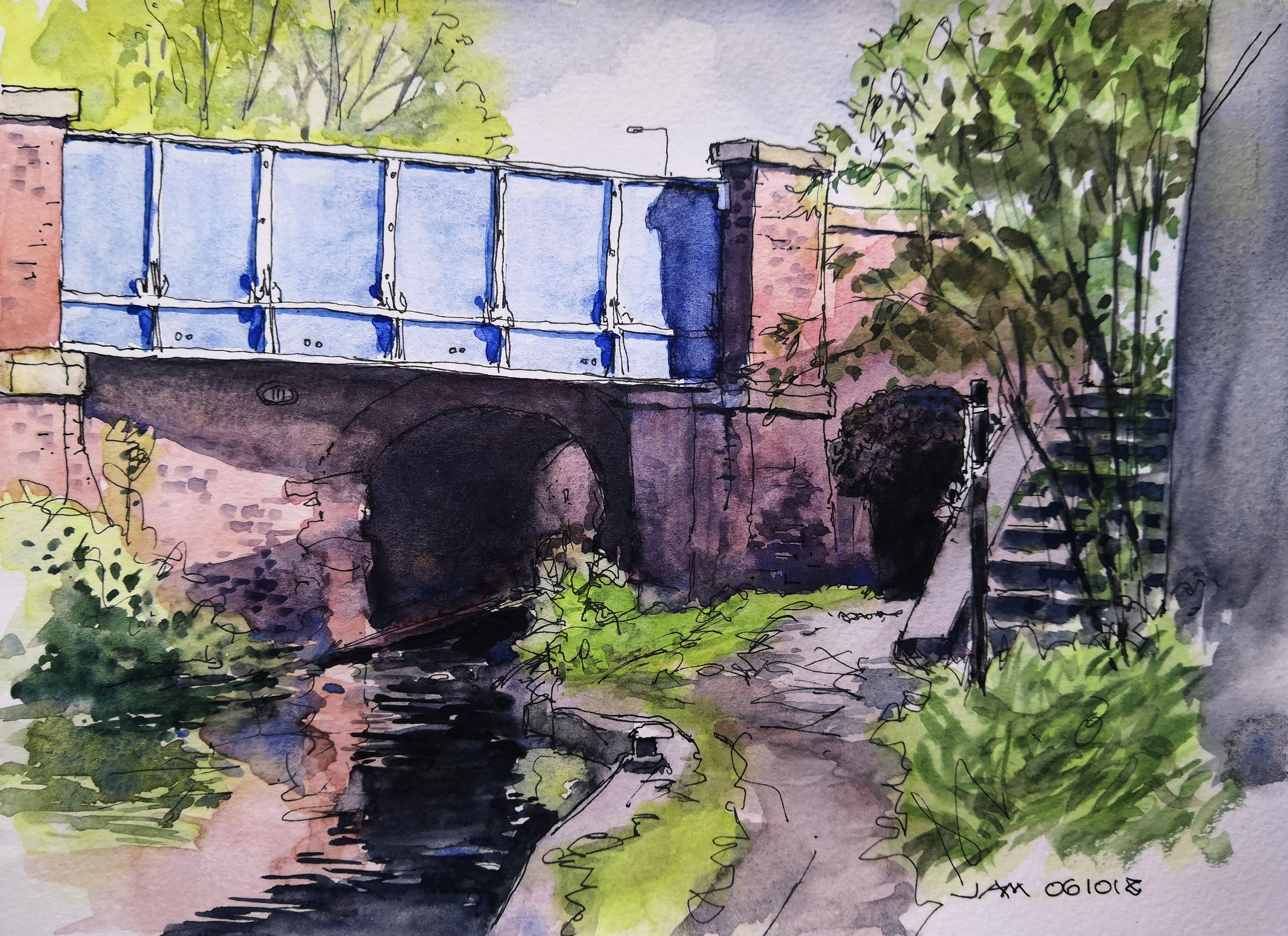 Whitelands Bridge Print